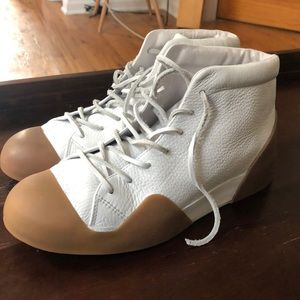 Rag and Bone RB1 White Leather Sneakers